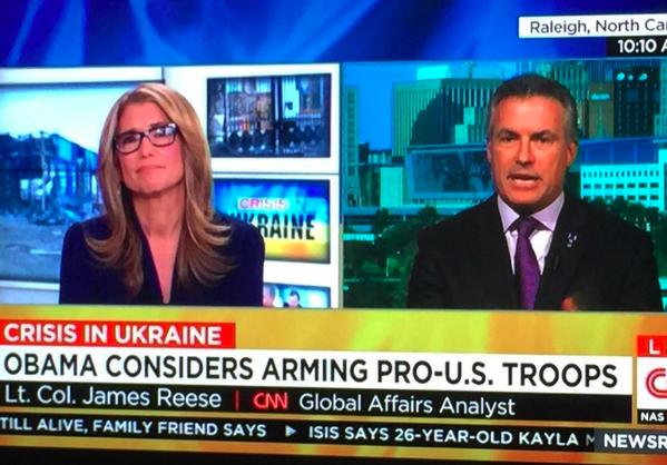 CNN appelle l'armée ukrainienne est carrément appelé «les troupes Pro-US»