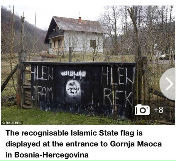Trois camps de Daesh en Bosnie