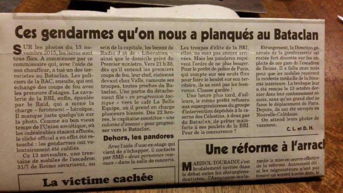 ATTENTATS DE PARIS : Le canard enchainé révèle !!!