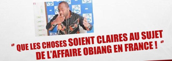QUE LES CHOSES SOIENT CLAIRES AU SUJET DE L'AFFAIRE OBIANG EN FRANCE !