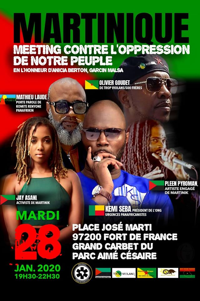 [MARTINIQUE : MEETING INTERNATIONAL CONTRE L'OPRESSION DE NOTRE PEUPLE »]